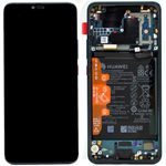 Genuine Huawei Mate 20 Pro Complete lcd with frame and battery in  Emerald Green Part no: 02352GGB