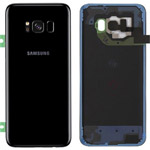 Genuine Samsung Galaxy S8 (SM-G950F) Battery Cover in Midnight Black - Part no: GH82-13962A