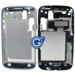 Samsung Galaxy Core i8260,Duos i8262 LCD Frame with Side Button in Silver
