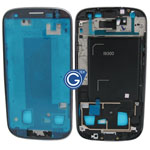 Samsung Galaxy S3 i9300 LCD Frame with Side Button in Grey