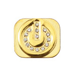 iPhone 5 Diamond on/off Button Style Home Button in Gold