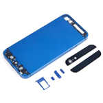 iPhone 5 Battery Back Cover in Metallic Dark Blue with Small Parts