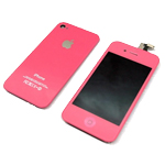 iPhone 4S Complete LCD with Battery Cover set in Hot Pink