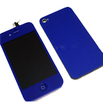 iPhone 4S Complete LCD with Battery Cover set in Dark Blue