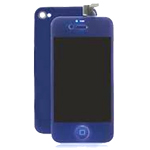 iPhone 4 LCD and Deep Blue in with Battery Cover and Home Button (High Quality)- Replacement part (compatible)
