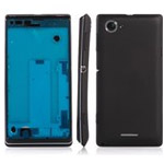 Sony Xperia L/ S36h Centre Frame with Back Cover in Black