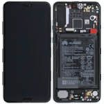 Genuine Huawei P20 Pro Complete lcd with frame and touchpad in Black with Internal Battery - Part no: 02351WQK