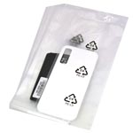 200pcs Transparent insert Bag with PE-LD Recycle Marking 7.5cm x 16cm
