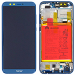 Genuine Honor 9 Lite Complete lcd and touchpad in Blue with battery, side buttons - part no: 02351SNQ