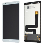 Genuine Sony H8216 H8266 Xperia XZ2 Lcd and touchpad in White/Silver - Part no: 1313-1179
