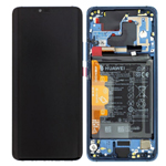 Genuine Huawei Mate 20 pro (LYA-L09) Complete lcd with frame and battery in blue - part no: 02352GFX