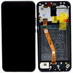 Genuine Huawei Mate 20 lite Complete lcd with frame, Speaker, Vibrator & Battery in black - Part no:02352DKK , 02352GTW