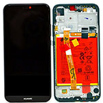 Genuine Huawei P20 Lite / P20 lite Dual Sim Complete lcd with frame & battery, speaker in black - Part no: 02351XTY, 02351VPR