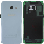 Genuine Samsung Galaxy A3 2017 A320 Blue Glass Rear Battery Cover - Part No: GH82-13636C