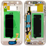 Genuine Samsung SM-G930F Galaxy S7 - LCD Bracket / Display Frame Gold - Part no: GH96-09788C