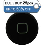 Bulk 25pcs iPad 2, iPad 3, iPad 4 home button black - only 0.56p each