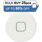 Bulk 25pcs iPad 2, iPad 3, iPad 4 home button white - only 0.56p each