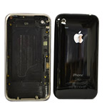 iphone 3G 8gb Back Cover with Chrome Bezel in Black