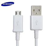 Genuine Samsung  N7100, S4 i9500. 3ft Micro USB Charging Data Cable in White - Original OEM ECB-DU4AWE ECBDU4AWE