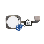 iPhone 6S Home Button with Ring and Flex Complete in Silver