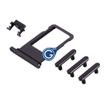 iPhone 8 Plus Sim Holder and Side Button Set in Black