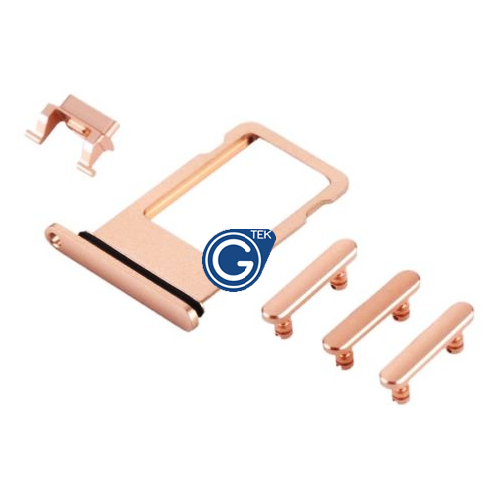 iPhone 8 Sim Holder and Side Button Set in Gold