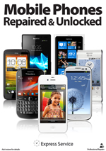 New Edition Gloss A2 Mobile Phones Repaired and Unlocked here Poster (shipped separately to UK only)