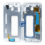Samsung Galaxy A5 A520 LCD Frame Bezel in Blue