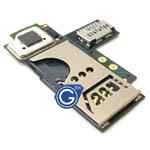 Blackberry 9360 Curve Sim/Memory Card Reader Slot Unit PCB