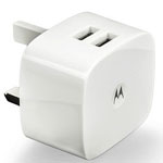 Genuine Motorola DUAL USB Mains Adaptor 1.5A  for iPhone, iPad, Samsung, HTC, LG etc - Part no:  SPN5799A