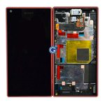 Genuine Sony Z5 Compact Complete lcd with Frame and Touchpad in Pink - Part number 1297-3734