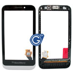 BlackBerry Z5 Digitizer Touchpanel with Front Cover Frame and Speaker