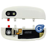 Blackberry Q10 Camera cover with antenna and flash light in white