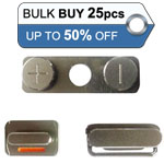 Bulk 25pcs iPhone 4S side button set- Replacement part (compatible)