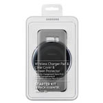 Genuine Samsung S8+ Starter Kit (Includes, 1 Wireless Charger Pad, 1 Clear Cover & 2 Screen Protectors) - Part No: EP-WG95G