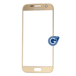 Samsung Galaxy S7 SM-G930 Glass Lens with Adhesive in Gold