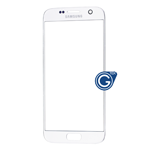 Samsung Galaxy S7 SM-G930 Glass Lens with Adhesive in White