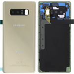 Genuine Samsung SM-N950FD Galaxy Note 8 DUOS Battery Cover in Gold - Part no: GH82-14985D