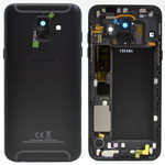 Genuine Samsung A600F Galaxy A6 2018 Back Cover In Black - Part no: GH82-16417A