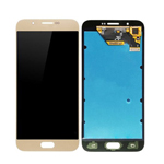 Genuine Samsung Galaxy A8 (A800F, A800Y, A8 Duos) Lcd and touchpad in Gold -Part no: GH97-17696B