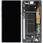 Genuine Samsung Galaxy Note 9 (SM-N960F) Complete lcd with frame in Midnight Black - Part no: GH97-22269A