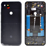 Genuine Google Pixel 3a XL ROW Jet Black Battery Cover - Part no: 20GB4BW0003