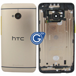 HTC One,HTC M7 Rear Housing with Side Button in Gold