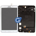 Genuine Samsung Galaxy Tab 4 7.0 SM-T231,SM-T235 Complete LCD with Frame and Home Button in White