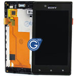 Sony ST26i/ST26a Xperia J Complete Lcd and DIgitizer Black
