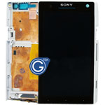 Genuine Sony Xperia S LT26i Complete LCD with Frame in White Grade A