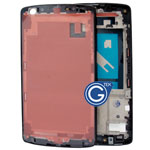 For Google Nexus 5, LG Nexus 5 D820 Front Cover / LCD Frame in Black