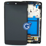 Genuine Google Nexus 5, LG Nexus 5 D820 Complete LCD with digitizer and front cover unit black- Part code: ACQ86661402