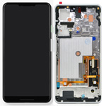 Genuine Google Pixel 3 XL Complete lcd and touchpad with frame in Clearly White  - Part no: 20GC1WW0S0
