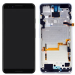 Genuine Google Pixel 3 Complete lcd and touchpad with frame in Clearly White - Part no: 20GB1WW0S03